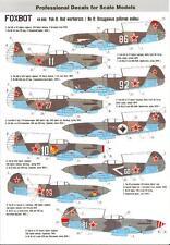 Foxbot Decals 1/48 YAKOVLEV Yak-9 Fighter RED WARHORSES
