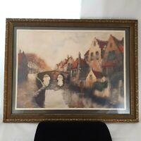 Village in Brabant Talio-Chrome Gravure Fine Art Print Framed Vintage
