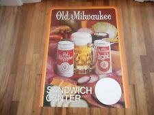 VINTAGE OLD MILWAUKEE BEER SANDWICH CENTER Advertising MENU BOARD PRICER SIGN