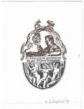 VICTOR SCHAPIEL: Exlibris für Dr. Tillfried Cernajsek