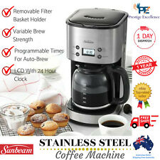 Sunbeam Coffee Machine Aroma Drip Filter Automatic Coffee Maker Stainless New AU