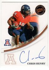 1X CHRIS HENRY 2007 Press Pass Signings AUTOGRAPH RC Rookie
