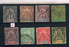 Martinique   ( colonie Fr. )    8  type  Sage    neuf   &  oblitérés