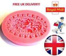 Rose Flower Silicone Mould Fondant Cake Topper Modelling Tools Mold - UK Seller