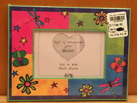 NEW Havoc PHOTO PICTURE FRAME Butterflies Flowers Stars Pink Green Blue Yellow