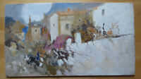 Painting oil On Board Painter Spanish Of 900 landscape Spain Vintage MD1