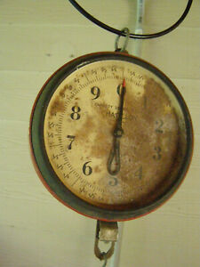 Antique CHATILLON 20 lb Hanging Produce Grain Seed Scale