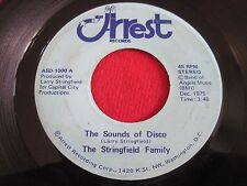 SOUL  45 - THE STRINGFIELD FAMILY - THE STRINGFIELD HUSTLE / DISCO - ARREST 1000