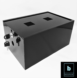 BOXULOCK Lockable Storage Box for food, medicine, tech and more. 2 keys. Black