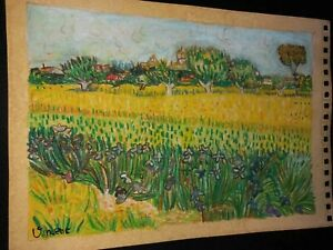 Vincent van gogh Drawing on paper Signed and sealed Oil Pastel technique