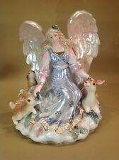 Fitz And Floyd Peaceful Kingdom Angel With Forrest Animals Candle Holder Perfect