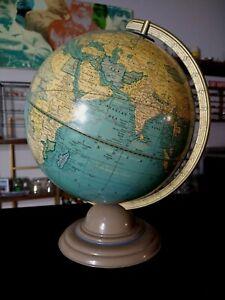 "Vintage Cram's Universal Terrestrial Globe 12"" Globe Near Mint"