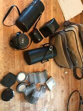 Lot of vintage Pentax asahi lens/filters and carrying bag, very good condition
