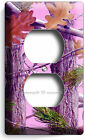 GIRLS PINK MOSSY TREE OAK LEAVES CAMO CAMOUFLAGE POWER OUTLET RESEPTACLE COVER