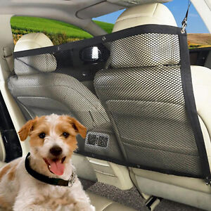 Car Dog Barrier Rear Seat Safety Isolation Mesh Baby Safety Divider for Pets