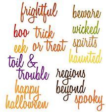 Sizzix Thinlits Halloween Words: Script 18-die set #660957 Retail $19.99 T Holtz