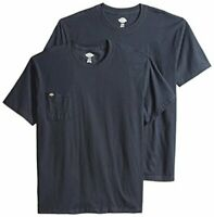 Dickies Men's Short Sleeve Pocket T-Shirt 2-Pack, Dark, Dark Navy, Size XX-Large