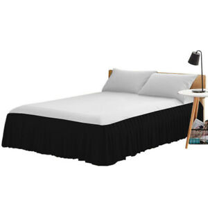 MISR Dust Ruffle Bed Skirt Split Corner Bed Skirt Easy Fit All Size and colors