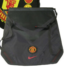 New NIKE MANCHESTER UNITED Football Club Drawstring Backpack Black