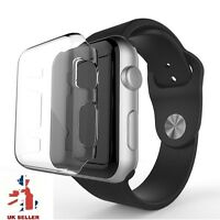 2PK Cystal Clear Slim Hard Snap On Protector Case Cover For Apple Watch 1 38MM