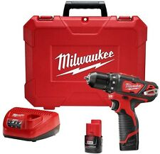 Milwaukee M12 12-Volt Lithium-Ion 3/8 in. Cordless Portable Drill Driver Kit New