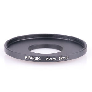 RISE(UK) 25mm-52mm 25-52 mm 25 to 52 Step Up Ring Filter Adapter black