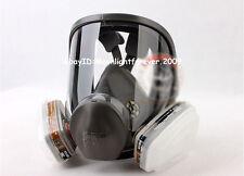 3M 6800+6001 7P Suit Full Facepiece Respirator Spray Painting Medium Mask PEH070