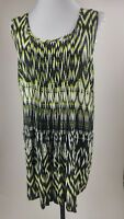 Women's Avenue Blouse Top Size 22/24 (2X) Sleeveless Pleated Front