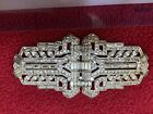 Vintage Coro Duette Rhinestone - Two Pins and holder