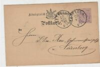 germany 1877  stamps card ref 20972