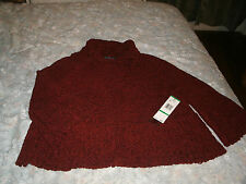 Jones New York ladies dark red  sweater jacket size large new with tags