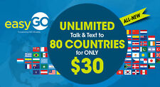 New EasyGo Wireless Sim $30 Lte Unlimited Call+Text At&T+1 Month Free Included