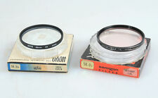 58MM FILTERS, SET OF 2, SKYLIGHT 1A   CROSS SCREEN, IN ORIGINAL BOXES