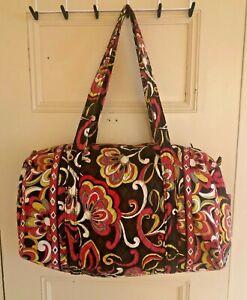 "Vera Bradley Medium Duffel Bag / Weekend Travel Bag ~ Puccini ~ 17""x12""x9"" ~ GUC"