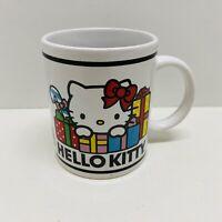 Hello Kitty Christmas Coffee Mug Sherwood Brand 2010 White With Presents