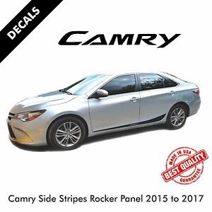 Toyota Camry Pre-Cut Side Stripes Rocker Panel Decals Vinyl 2015 to 2017 |40