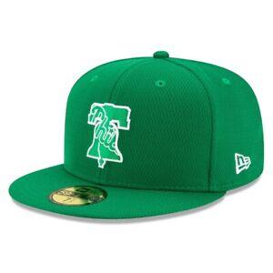 Philadelphia Phillies Hat New Era 59Fifty Baseball Cap 7-1/2 St Patrick's Day