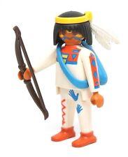 Playmobil Figure Western Indian w/ Bow Arrows Headband 3875
