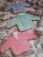 """Children's Cabled Sweaters and Cardigan ~ (16""""-26"""") ~ Chunky Knitting Pattern"""