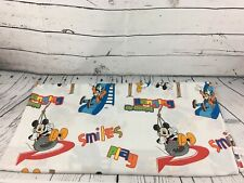 Vintage Disney Mickey Mouse Clubhouse Goofy Donald Duck Full Kids Flat Bed Sheet