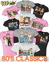 VIPwees Ladies T-Shirt 80`s Classic Movies Inspired Caricatures Choose Design