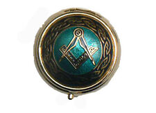 ENAMELLED MASONIC PILLBOX IN BLUE OR RED