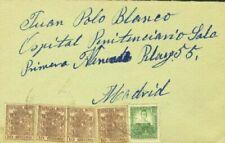 Sobres y tarjetas de España hasta 1949 sobre de 10 sellos