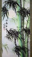"""Rollbild chinesische Malerei """"Bambus im Mondschein"""", rechts Bildrolle Hängerolle"""