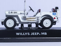 DIE-CAST GREENLIGHT 1/43 UN UNITED NATIONS WILLYS JEEP MB CAR MODEL White #86308