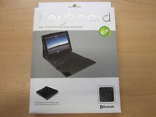 Nero Bluetooth Wireless tastiera REAL LEATHER Carry Custodia / Supporto Apple iPad Air