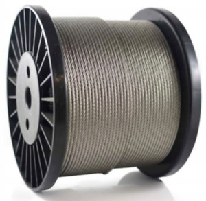 3,4,5, 6, 8mm Galvanised Steel Clear PVC Plastic Coated Wire Rope Steel Cable