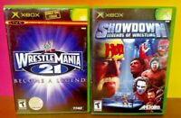 WWE Wrestlemania 21 Showdown Legends Lot - Microsoft Xbox OG Game Rare Tested