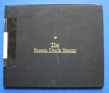 Russia (RD14) 2002 Russia Duck Stamp Artist Signed Miniature Sheet Folio