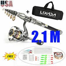 2.1M Lixada Telescopic Fishing Rod Spinning Reel Combo Full Kit +100M Line +Bag